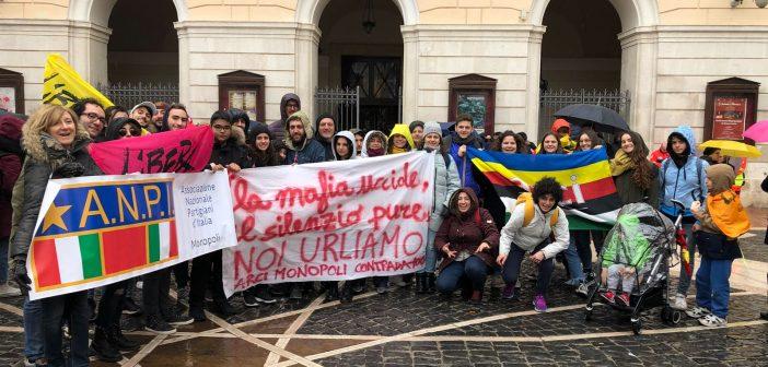 Il Circolo ARCI Contrada100 di Monopoli a Foggia per la Marcia di Libera