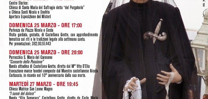 Castellana Grotte: ecco il programma dei Riti della Settimana Santa