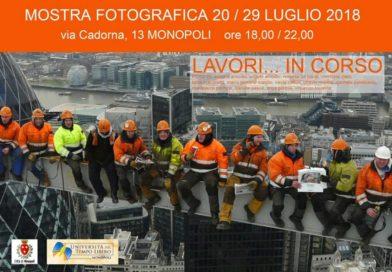 """Monopoli: """"Lavori in corso …"""" mostra fotografica dell'Utl"""