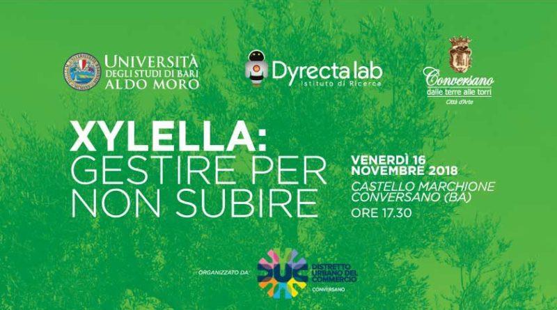 CONVERSANO Xylella, incontro con gli esperti venerdì 16 novembre a Marchione