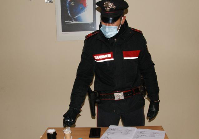 Casamassima, spaccia droga in casa, arrestato 29enne