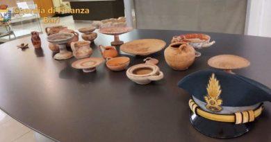 Devoluti al Museo di Altamura reperti oggetto di sequestro della Gdf