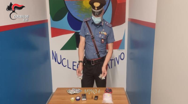 Modugno, arrestato dai Carabinieri un pusher 19enne.