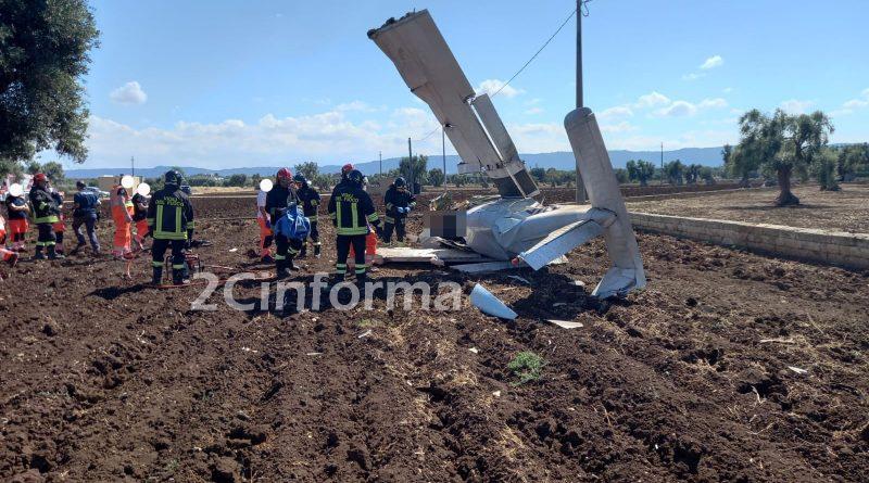 Tragedia tra Monopoli e Fasano, aereomobile precipitato, due vittime